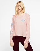 Hurley  W HRLY GLOBAL PERFECT LS BLACK  長袖T恤-(女)