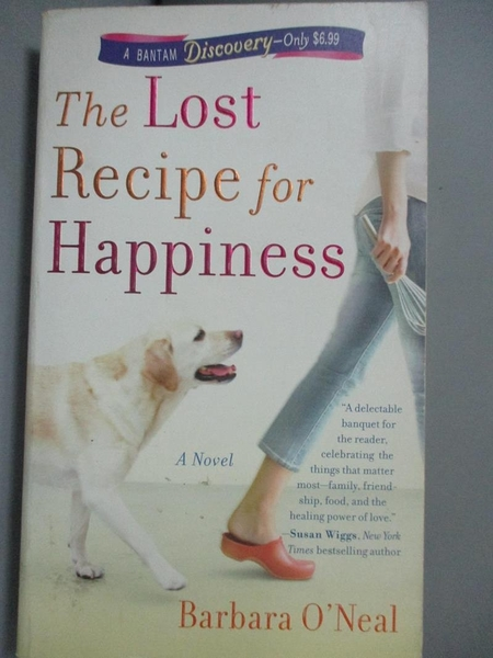 【書寶二手書T3/原文小說_HCL】The Lost Recipe for Happiness_O'Neal, Barb