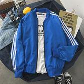 青少年男學生韓版潮流寬鬆棒球服夾克外套上衣服長袖褂子百搭歐亞時尚