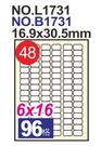 《享亮商城》L1731(48號)A4三用電腦標籤 鶴屋
