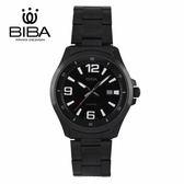 法國 BIBA 碧寶錶 經典系列 藍寶石玻璃 石英錶 B12BS102B 黑色 - 42mm