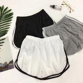 雙12購物節   夏季簡約拼色休閒運動短褲高腰寬鬆顯瘦闊腿熱褲女學生潮   mandyc衣間