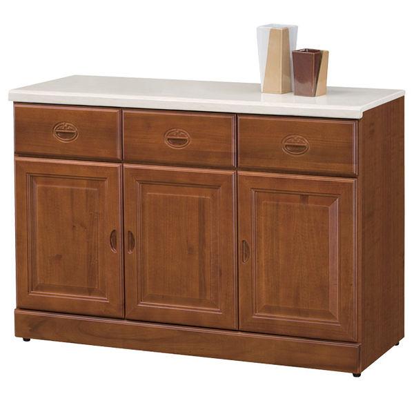 【時尚屋】[UZ5]長榮樟木4尺石面餐櫃930-3/台灣製造/免組裝/免運費/餐櫃/收納櫃