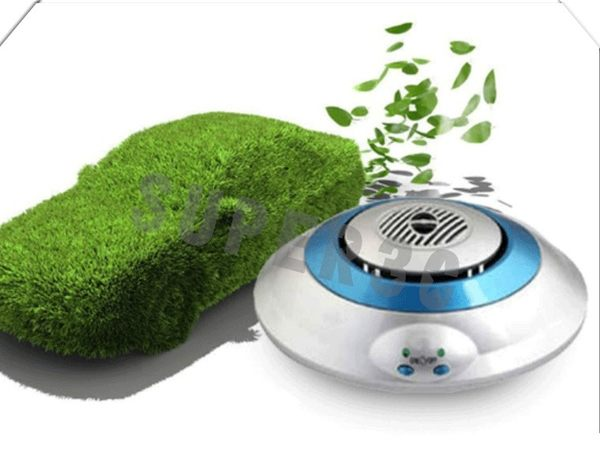 新竹【超人3C】飛碟造型 負離子 臭氧淨化 異臭 煙味 新車味 甲醛 抽煙 車用 汽車 空氣 靜音 低噪