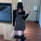 2021新款收腰顯瘦黑色牛仔背帶裙女夏季性感氣質洋裝小個子裙子 【端午節特惠】