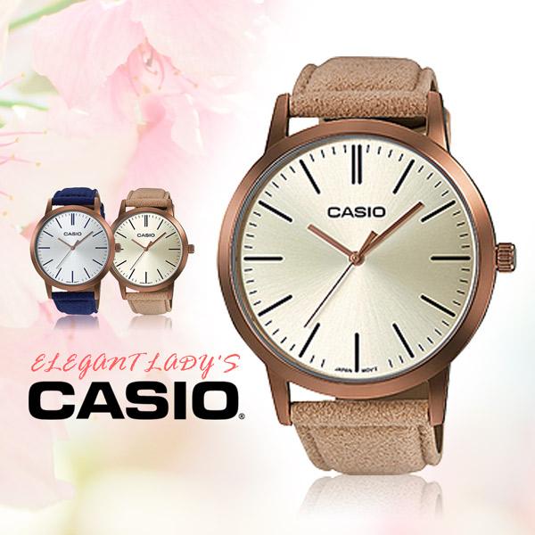 CASIO手錶專賣店 卡西歐 LTP-E118RL-9A 女錶 石英錶 指針錶 礦物玻璃 皮革錶帶 防水50米 玫瑰金錶殼