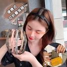 3個裝 韓式折疊伸縮髮箍便攜式洗臉隱形頭箍女百搭外出壓髮頭飾碎髮髮卡【小狮子】