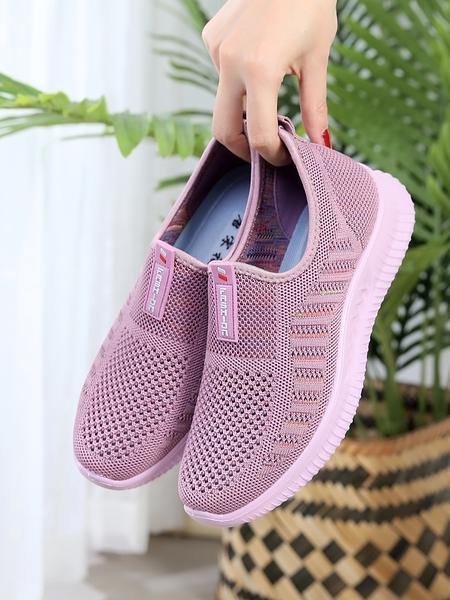 媽媽鞋 夏季老北京布鞋女網鞋中老年透氣網面平底女鞋媽媽女式網布運動鞋