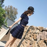 兩件套洋裝 網紅兩件套2020春秋新款韓版矮個子高腰冰絲針織洋裝子套裝女夏 polygirl