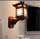 超實惠 中式壁燈/仿古壁燈古典實木藝雕花羊皮壁燈 /酒店過道壁燈小房子