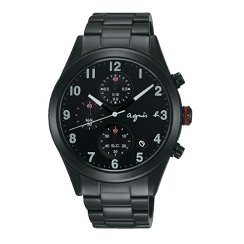 AGNES.B/浪漫時尚經典腕錶/黑/VD57-KT20SD