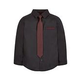 mothercare 秋冬男童襯衫+領帶-盛裝系列-咖啡色(M0JJ129)4A、5A