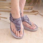 迷彩男涼鞋 灰  平底休閒 真皮涼鞋 海灘鞋 拖鞋《SV8788》HappyLife
