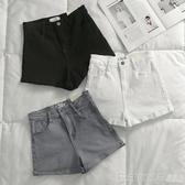 牛仔短褲 黑色牛仔短褲女2020夏季新款韓版高腰網紅彈力顯瘦外穿卷邊熱褲潮 印象