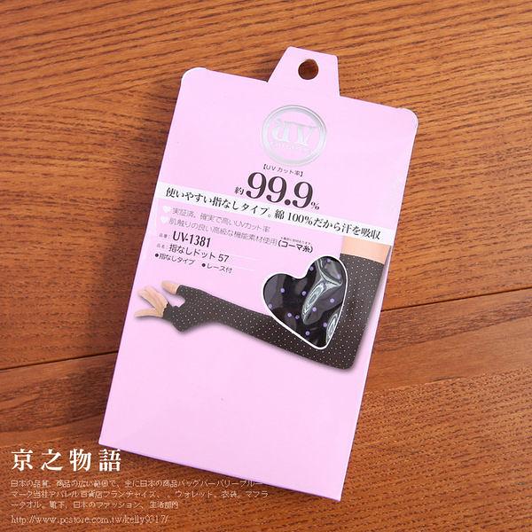 【京之物語】日本帶回女性抗UV防曬袖套-紫色點點
