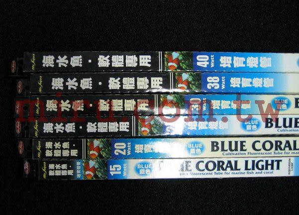 【西高地水族坊】Mr.Aqua水族先生 海水魚軟體藍燈管(38w)