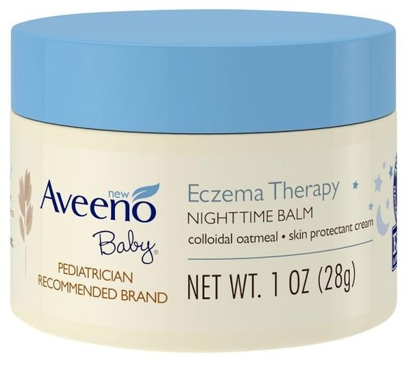 Aveeno Active Naturals 燕麥 寶寶夜間舒緩保濕乳膏 (無香) 28g 隨身瓶【彤彤小舖】
