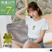 《KG0320》可愛青蛙字母刺繡高含棉上衣 OrangeBear