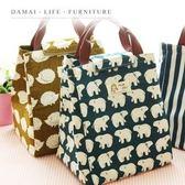【小麥購物】北歐風 印花 保溫包【Y210】保冷袋 保冰包 保冰袋 便當袋 野餐手提袋 手提袋