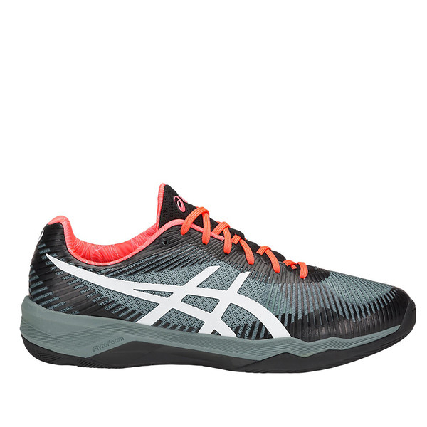 Asics Volley Elite FF [TVR721-1001] 男鞋 羽排鞋 透氣 輕量 彈性 緩衝 亞瑟士 灰