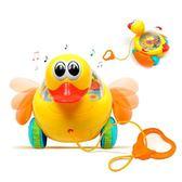 寶寶學步拖拉小鴨子玩具嬰兒益智音樂手拉線拉繩玩具車兒童 1-3歲 igo 薔薇時尚