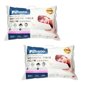 3M Filtrete淨呼吸健康防蟎枕心-加高型2入