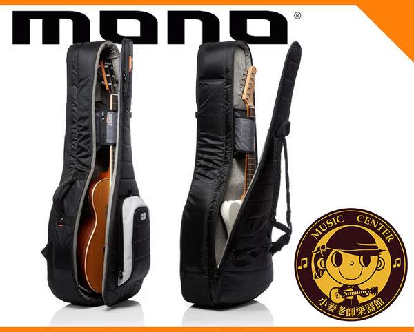 【小麥老師樂器館】MONO M80-2A-BLK 民謠吉他 電吉他 雙支琴袋 吉他背袋 電吉他背袋 琴袋