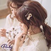 髮飾 韓國直送‧宮廷風珍珠髮夾兩件組-Ruby s 露比午茶