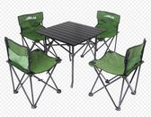 折疊椅 露行者戶外椅套件 鋁合金桌沙灘桌椅 燒烤桌椅便捷式4椅1桌 JD下標免運