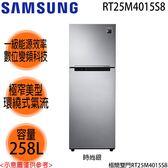 【SAMSUNG三星】258L變頻雙門冰箱 RT25M4015S8