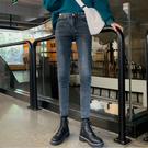 窄管褲 秋冬新款設計感網紅同款高腰顯瘦緊身小腳鉛筆牛仔褲