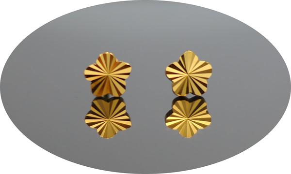 gold 黃金 耳環 金飾 保證卡 重量0.34錢 [ ge 038 ]