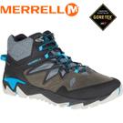 【MERRELL 美國 男款ALL OUT BLAZE 2 MID GORE-TEX 多功能健行鞋《灰/藍》】ML09385/休閒鞋/健行