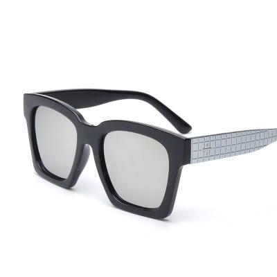 太陽眼鏡-偏光獨特造型方塊紋路男女墨鏡5色73en97[巴黎精品]