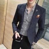 韓版西裝男修身西服外套男士英倫風潮流休閒發型師薄款小西裝上衣 凱斯頓3C
