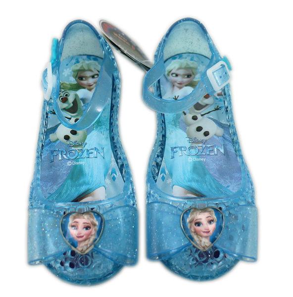 【卡漫城】 冰雪奇緣 兒童 涼鞋 藍色 艾莎 19CM ㊣版 Frozen 童鞋 台灣製 Elsa 公主 果凍鞋 拖鞋