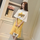 夏季韓版學生短袖T恤半身裙時尚套裝女網紅...