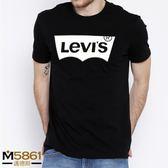 【Levis】Levi's T恤 經典款 純棉 品牌提袋裝/黑色