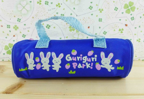 【震撼精品百貨】San-X動物家族_兔子~筆袋-藍草莓
