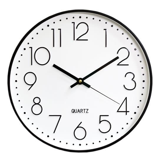 時鐘 鐘錶 壁鐘 電池 大字體 石英鐘 靜音鐘 客廳 立體數字 北歐風  圓形 靜音 掛鐘【G011】MY COLOR