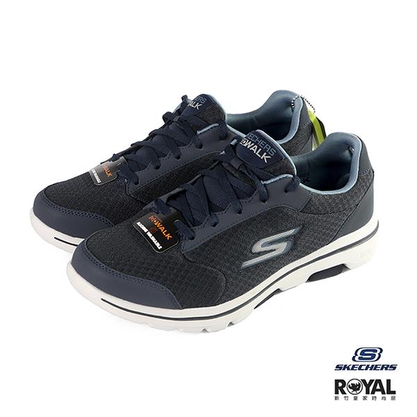 Skechers Go Walk 藍色 網布 休閒運動鞋 男款 NO.B1126【新竹皇家 55509NVY】