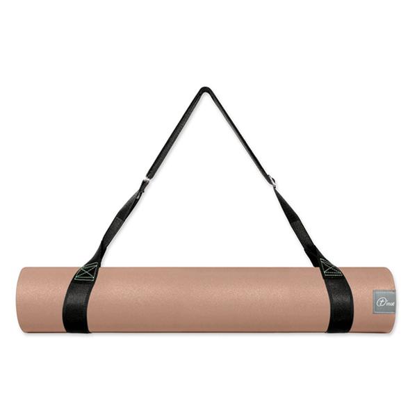 Taimat 天然橡膠瑜珈墊 183cm (附簡易背帶) - 吠陀系列 - 奶茶色