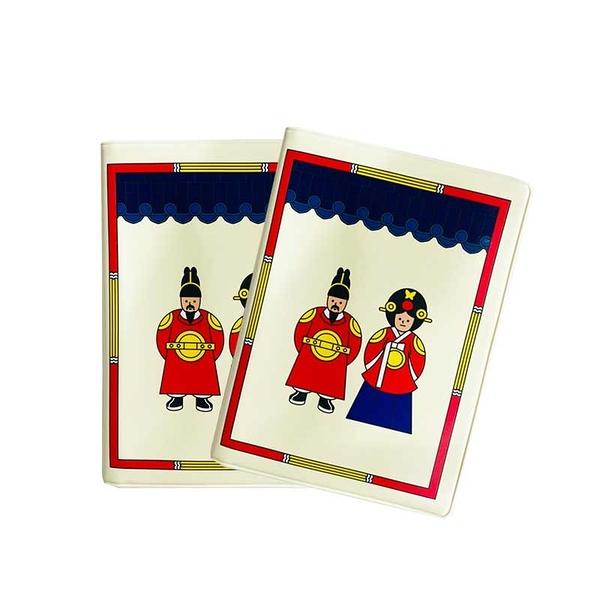韓國 大創 韓國傳統服飾娃娃 護照夾 護照套 單個