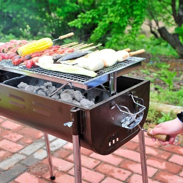 碳烤爐 大號燒烤爐 戶外便攜全套家用5人以上加厚木炭bbq工具木炭燒烤架 叮噹百貨