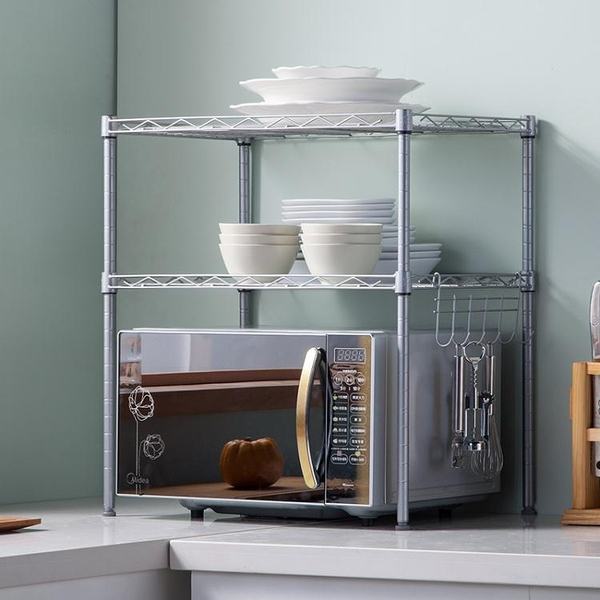 心家宜2層微波爐架 烤箱架 廚房落地層架微波爐置物架調味架儲物架 降價兩天