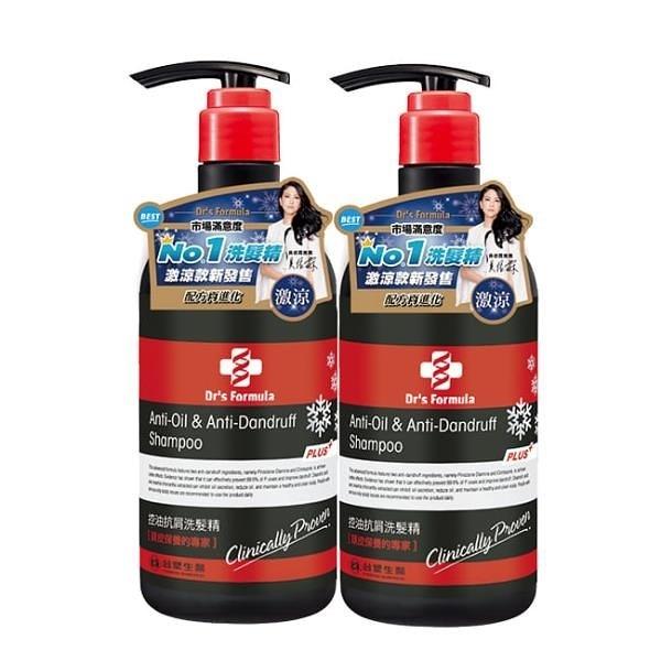 【南紡購物中心】《台塑生醫》Dr's Formula控油抗屑洗髮精升級版(激涼款)580g*2入
