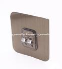 【雙扣貼】拉絲銀款 居家免釘免鑽強力吸盤掛鉤架 無痕貼卡扣掛架