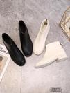 雪地靴粗跟馬丁靴冬正正韓百搭短筒切爾西女...