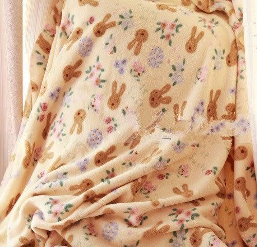【發現。好貨】Le Sucre法國兔砂糖兔經典米黃空調毯 珊瑚絨150*200公分