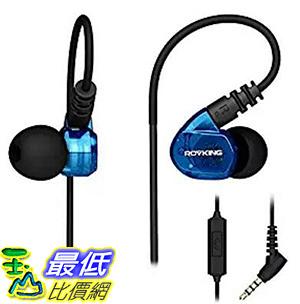 [106 美國直購] ROVKING Over Ear In Ear Noise Isolating Sweatproof Sport Headphones (Blue)